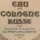 Eau de Cologne Russe