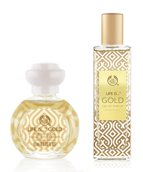 The Body Shop Life is Gold et Red Musk Oud ~ Nouveaux Parfums