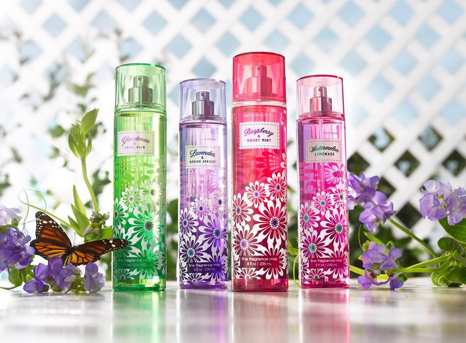 Bath Body Works Four New Spring Scents New Fragrances