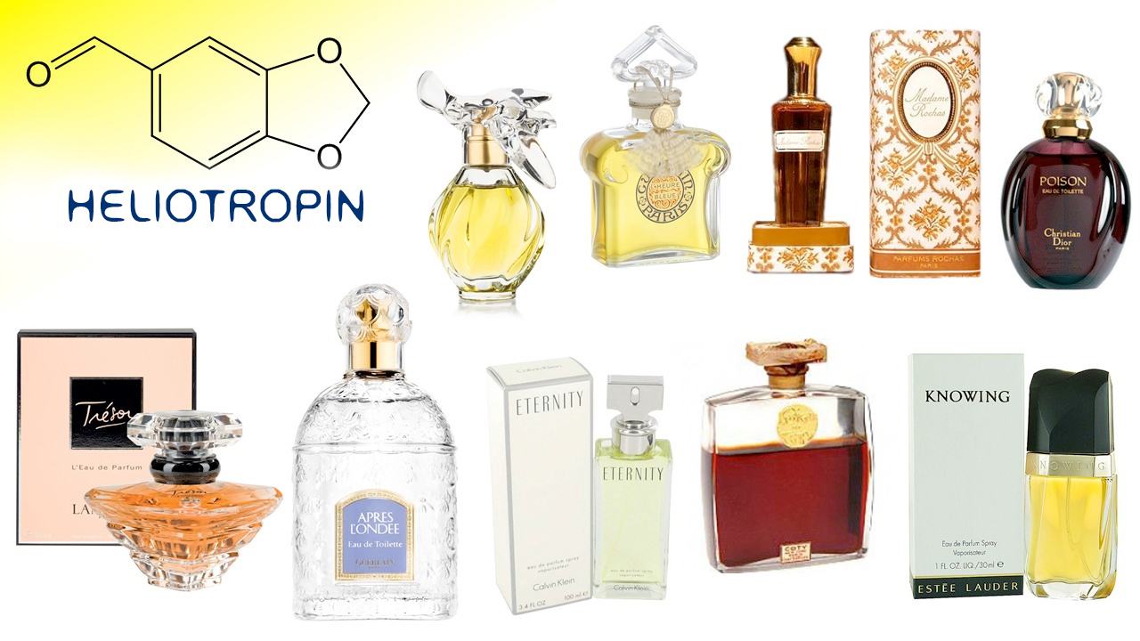 c8bd46a72 انتشرت رائحة heliotropin في العطور الكلاسيكية خلال القرن العشرين، وخاصة  عائلات العطور الزهريه والشرقية. Heliotropin هو جزء مهم من عطور Guerlain ...