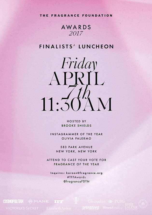Fragrance Foundation Finalists' Luncheon Poster