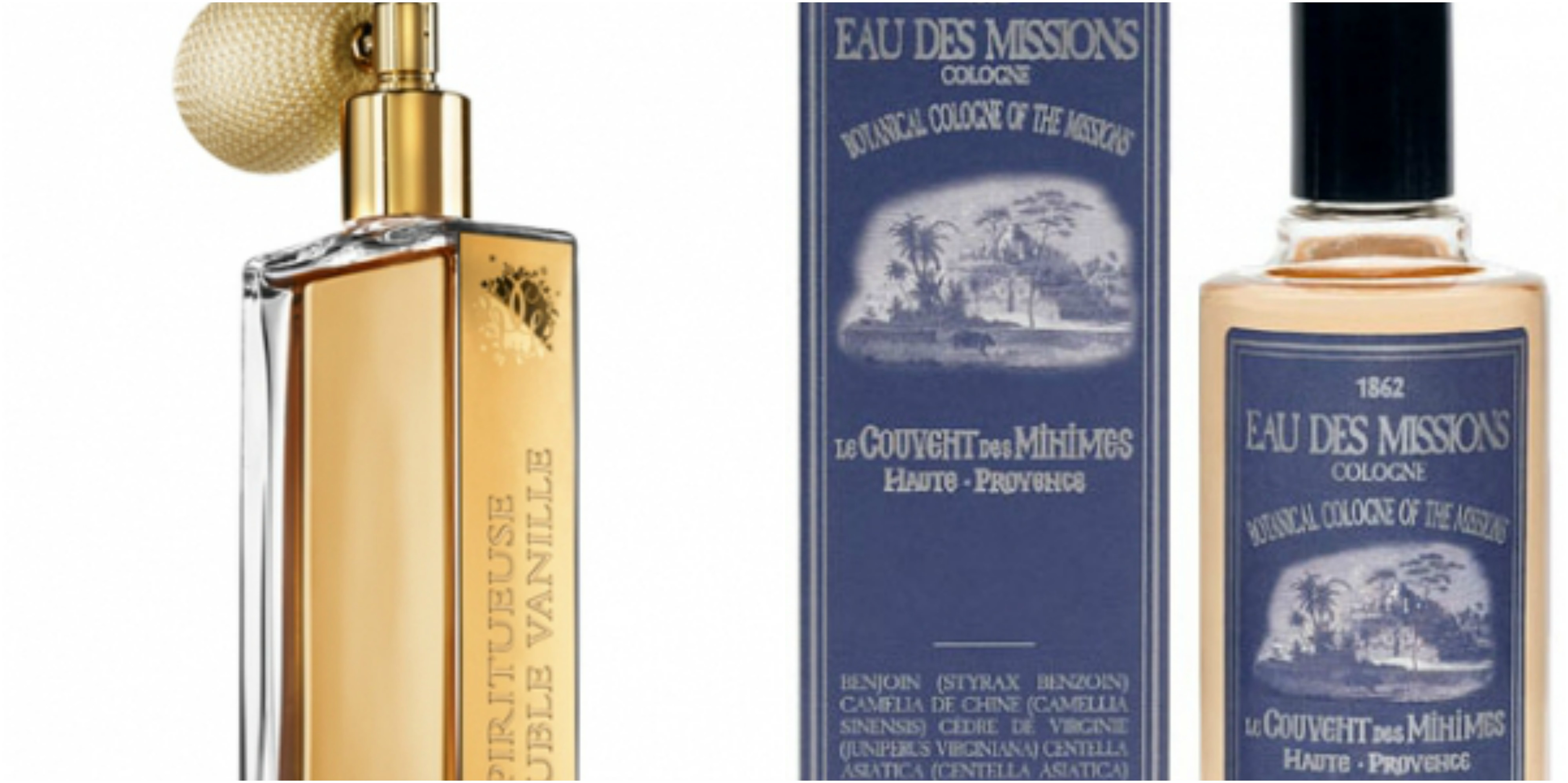 14134ba21 Flacons of Guerlain Spiritueuse Double Vanille and Le Couvent des Minimes  Cologne of the Missions