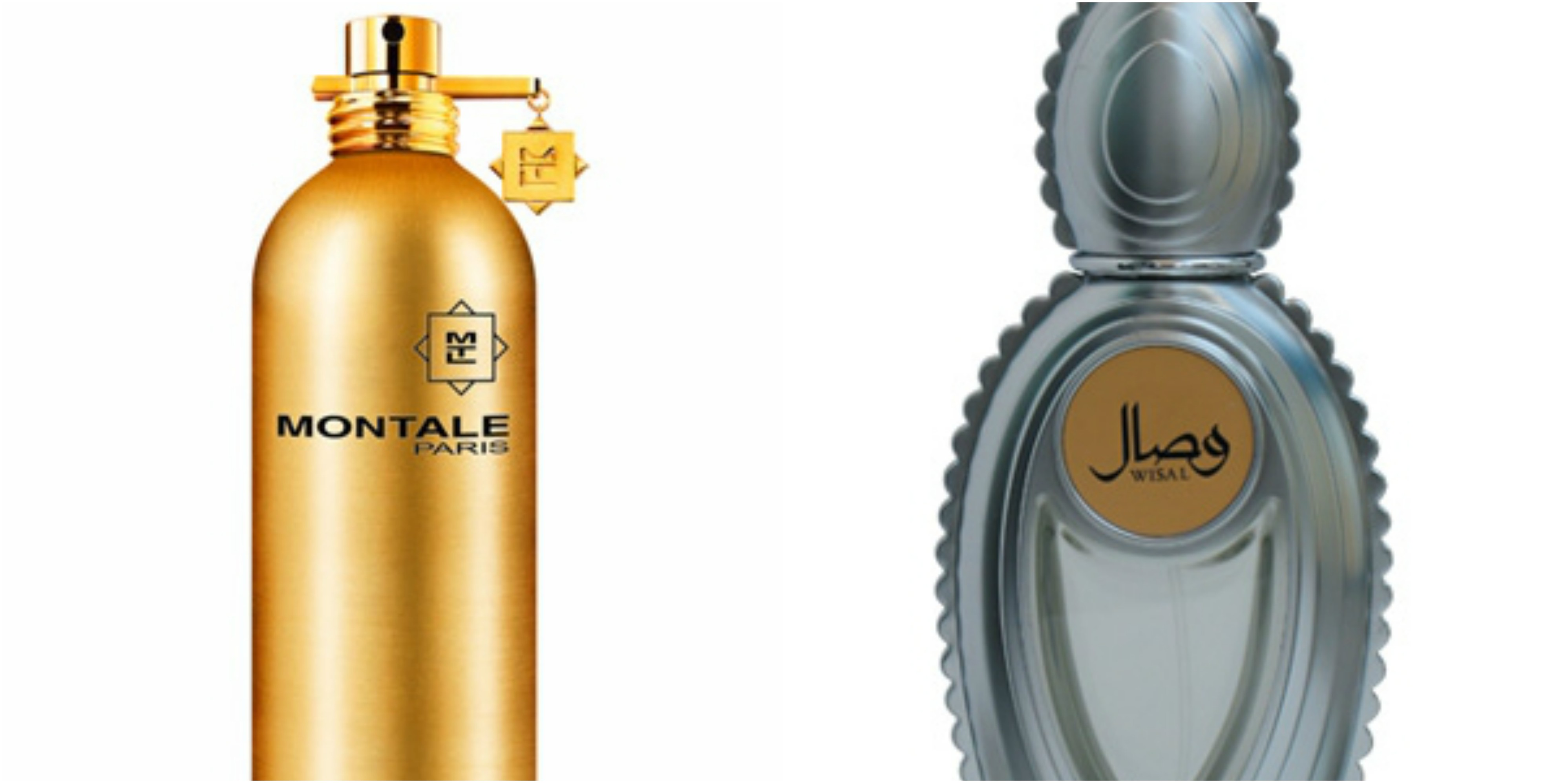 Flacons of Montale Aoud Blossom and Ajmal Wisal