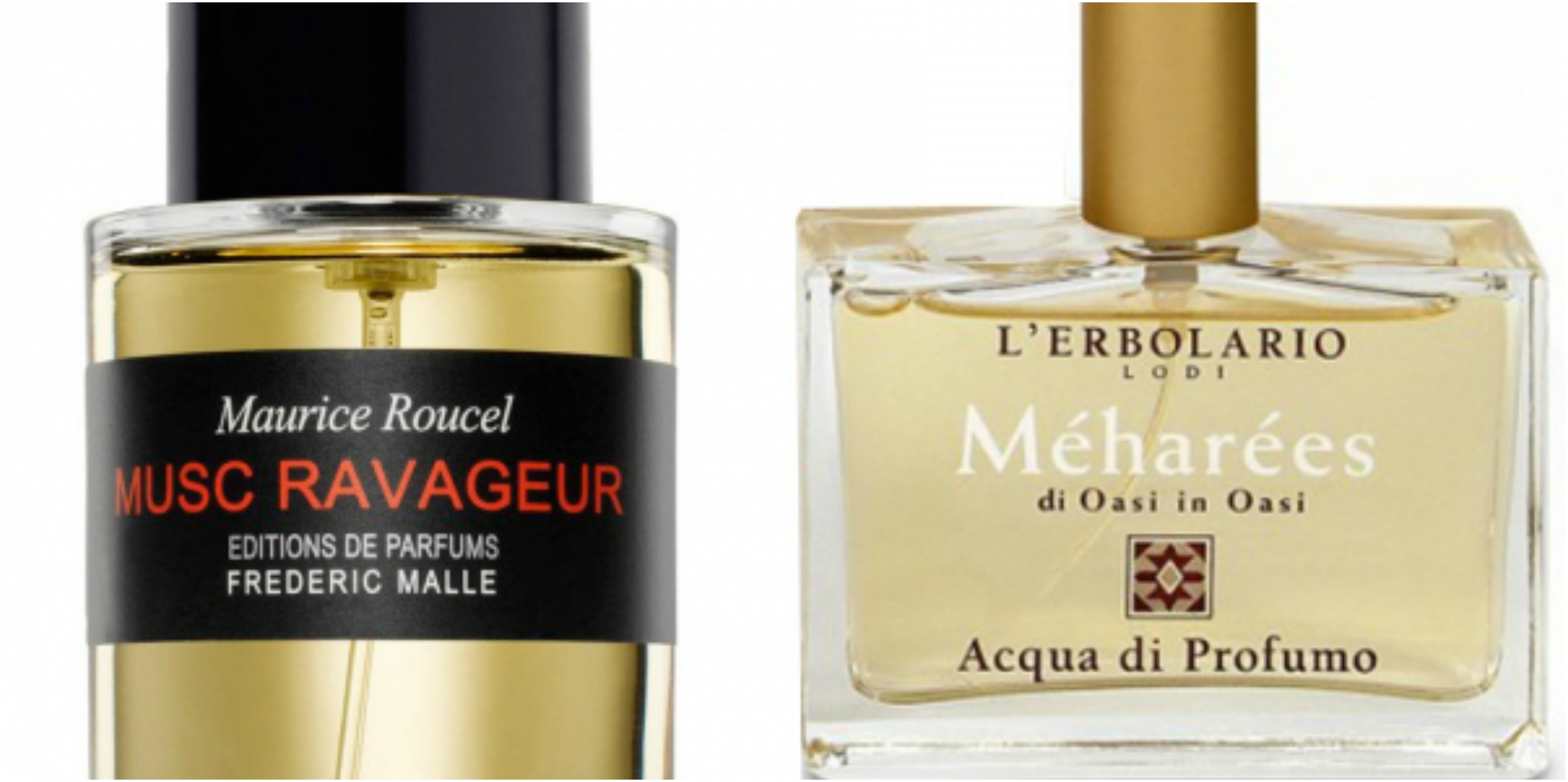 0aabc16a2 Flacons of Frederic Malle Musc Ravageur and L'Erbolario Meharees