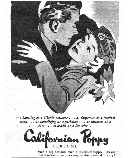 vintage califonia poppy ad