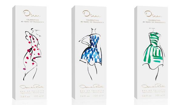 Oscar de la Renta 40th anniversary packaging