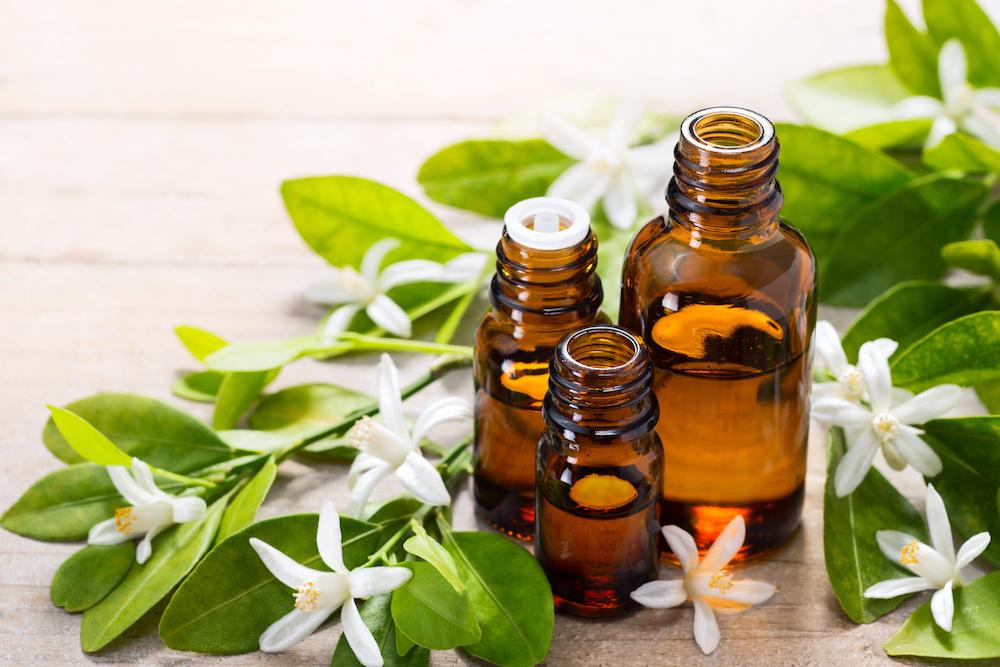 Neroli oil and blossoms