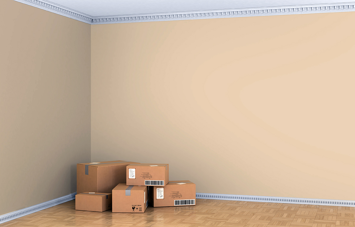 Room with boxes