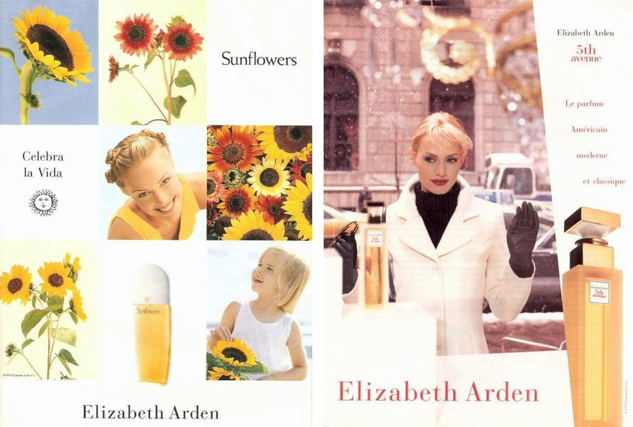 Elizabeth Arden ads from the 90s