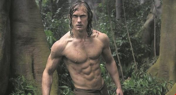 handsome naked man in jungles