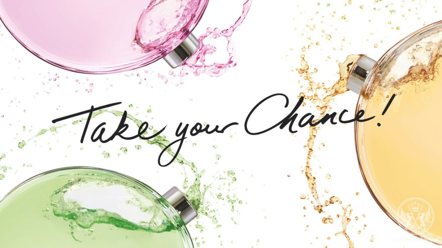 """take your Chance"" Chanel Chance ad"