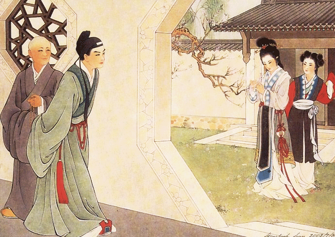 Story of the western wing exchange of a xiangbao illustration