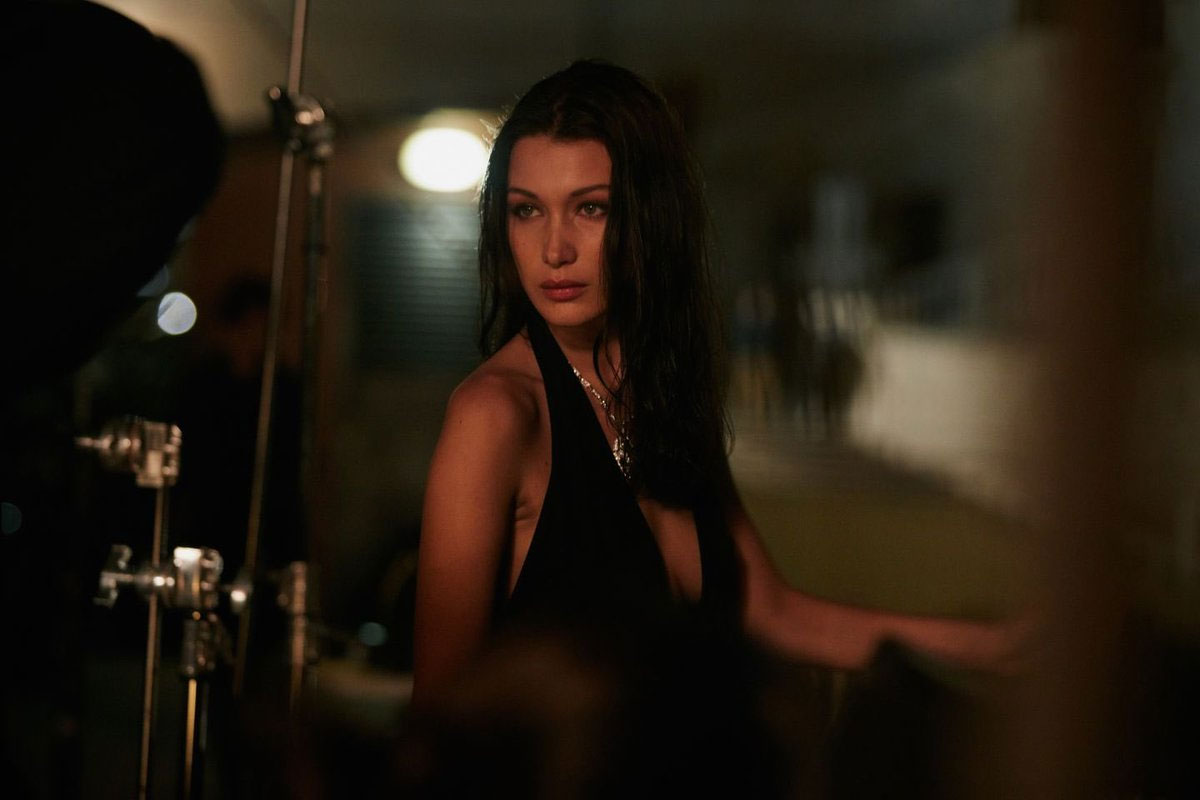 7e141b7d755 Bella Hadid on the shooting of the Bvlgari Goldea The Roman Night campaign