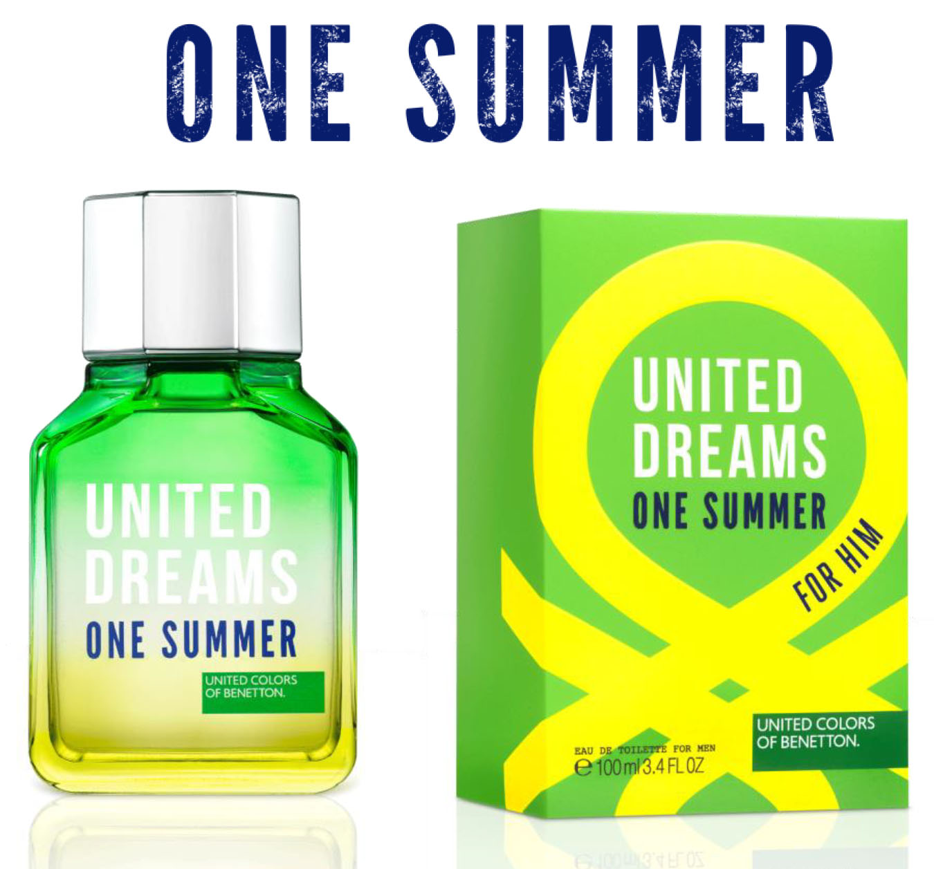 869b7512e benetton one summer flacon and box. BENETTON UNITED DREAMS ...