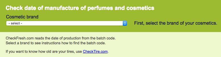 Checkfresh.com screenshot