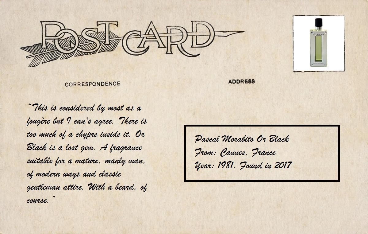 Vintage Scented Postcards: Pascal Morabito Or Black ~ Vintages
