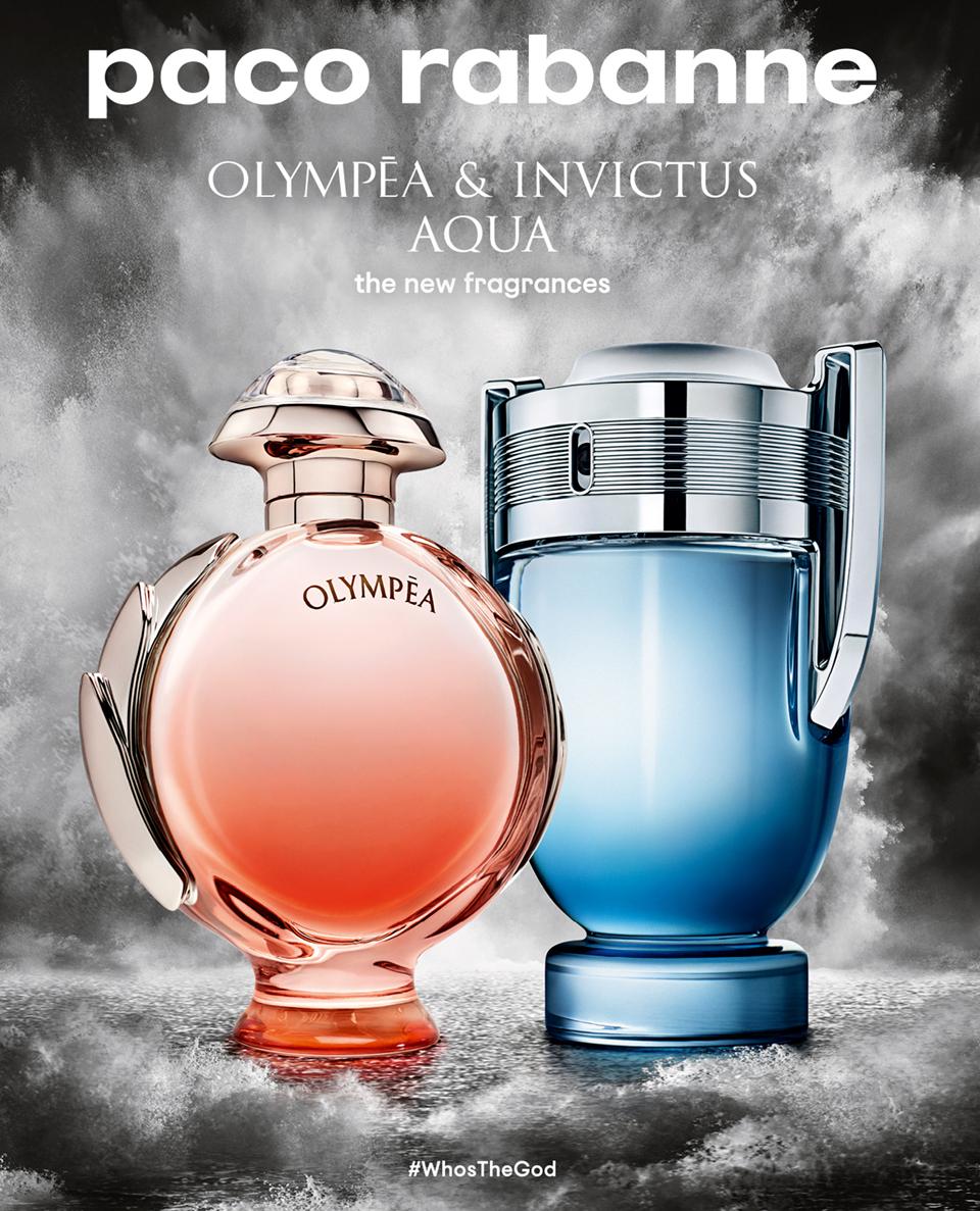 Paco Rabanne Invictus Aqua Olympéa Aqua 2018 New Fragrances