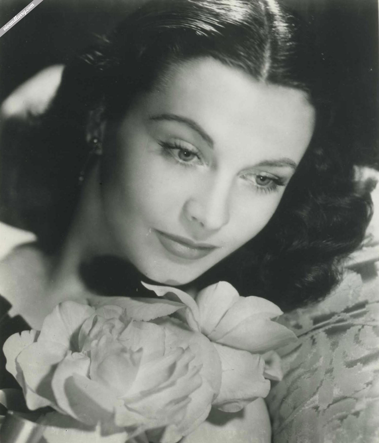 Vivien Leigh with roses