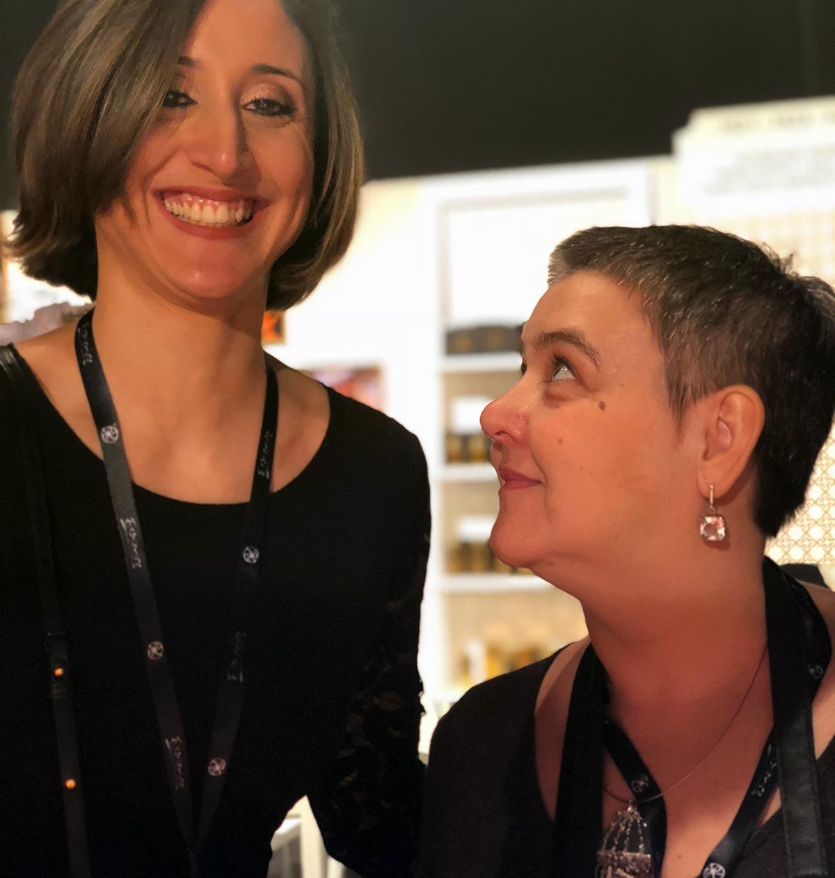 Cecile Zarokian with our author Elena Prokofyeva