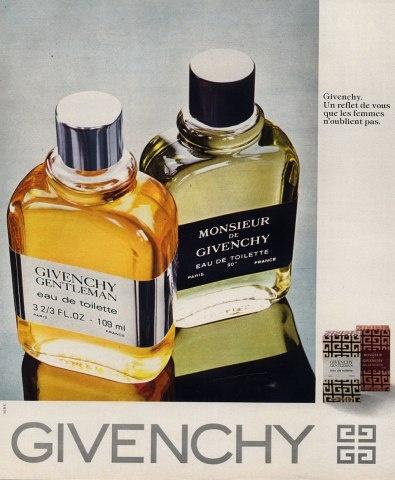 Givenchy men's fragrances ad ca 1978