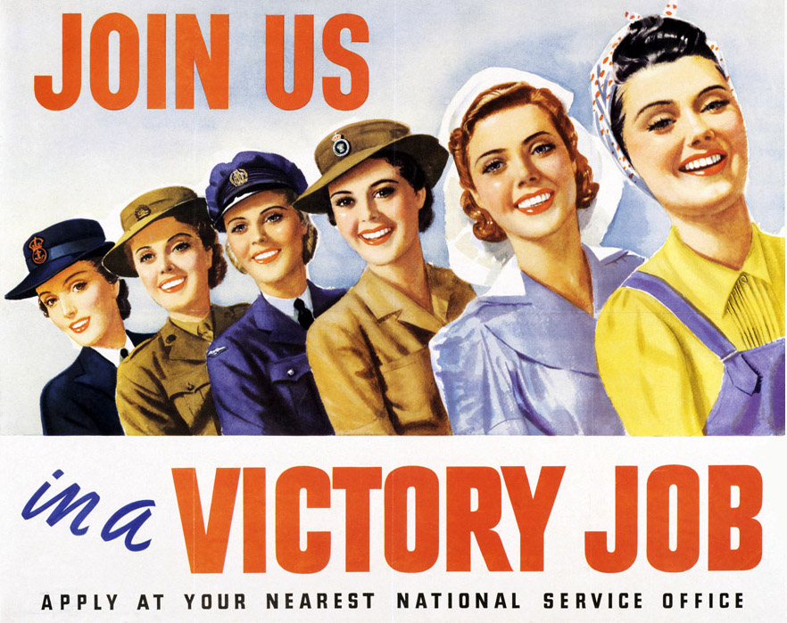Women in World War II poster Victory