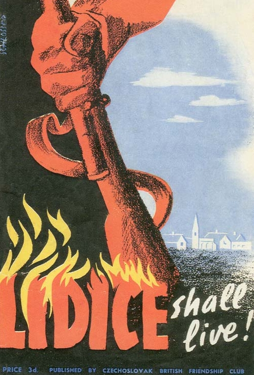 British Poster saying Lidice Shall Live during WWII