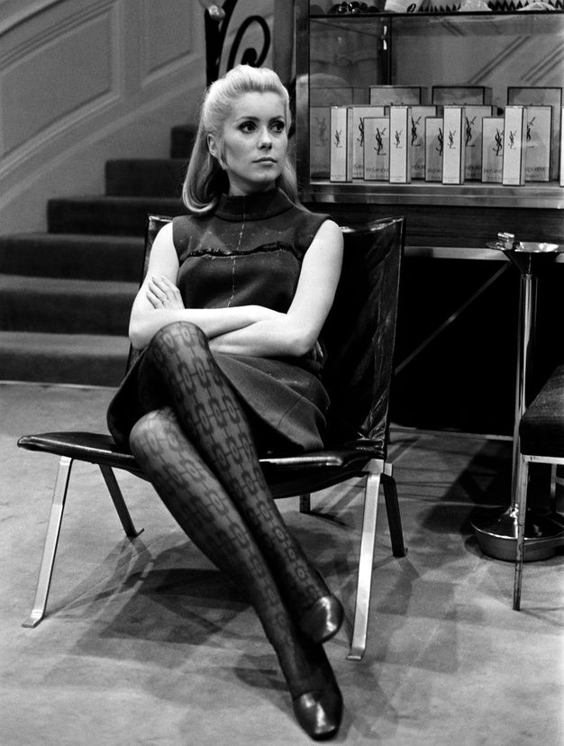 Catherine Deneuve at YSL headquarters 1966