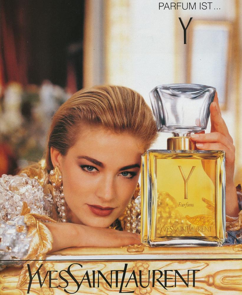 vintage ad for Y by Yves saint laurent