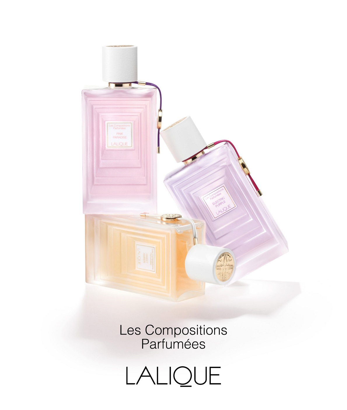 Lalique Electric Purple, Pink Paradise and Sweet Amber