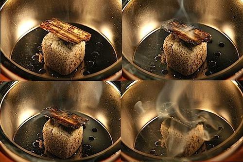 Burning agarwood