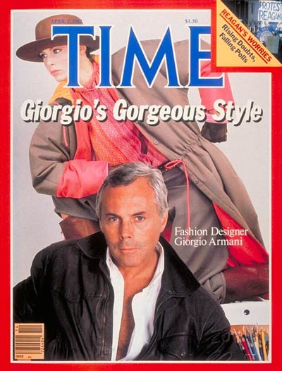 Time Cover with Giorgio Armani