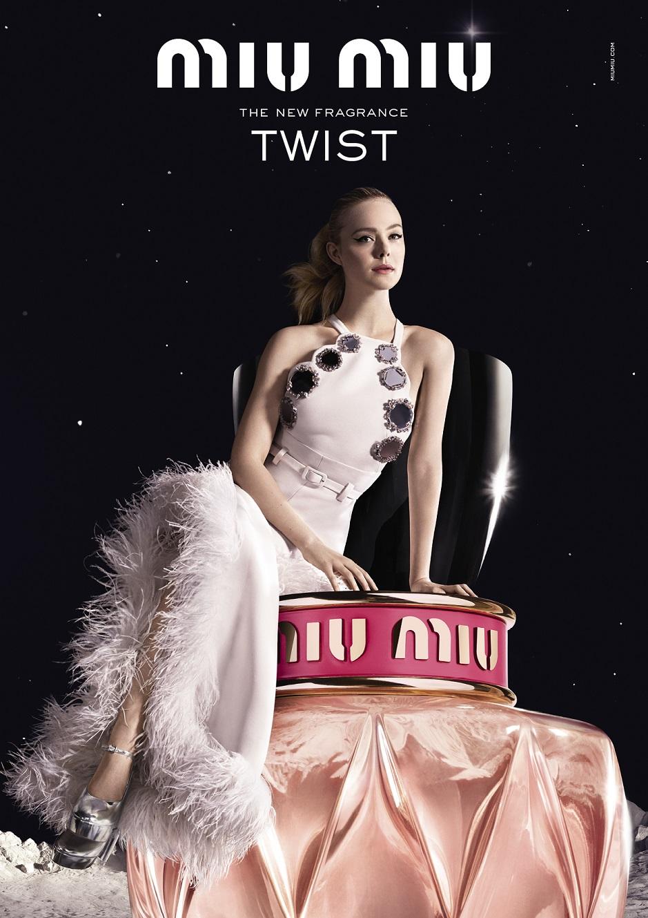 Miu Miu Twist ad with Elle Fanning