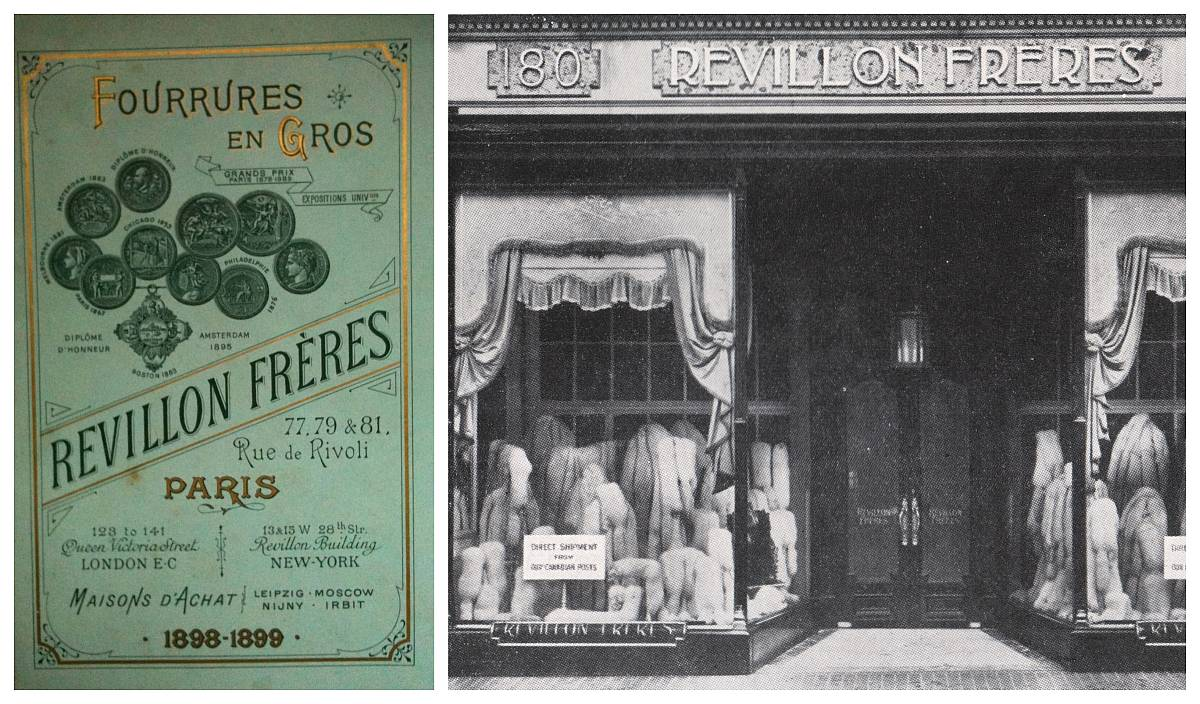 Revillon poster and boutique in London