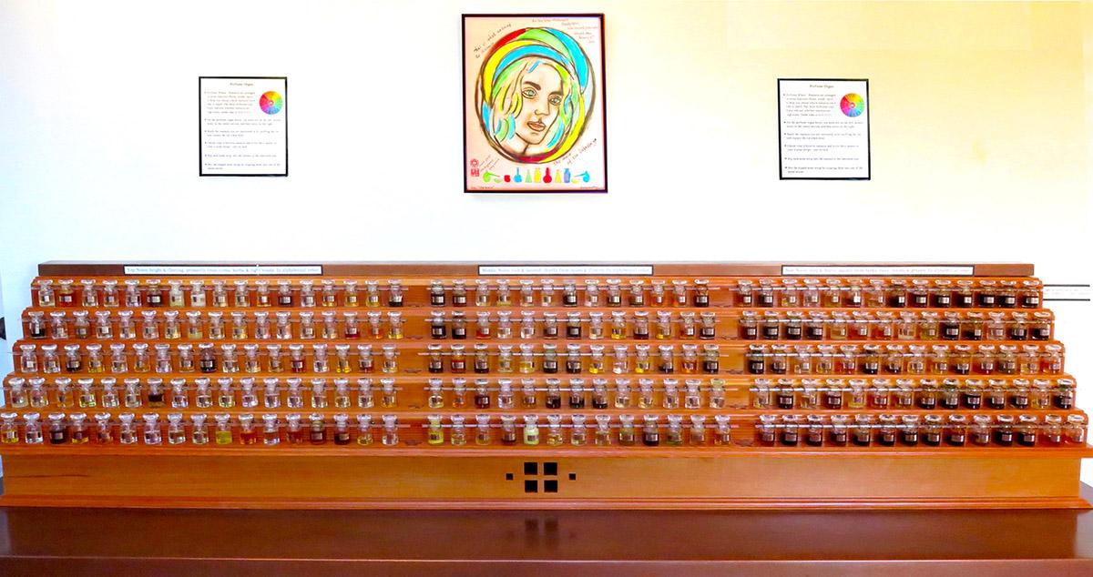 Perfume Organ at the museum