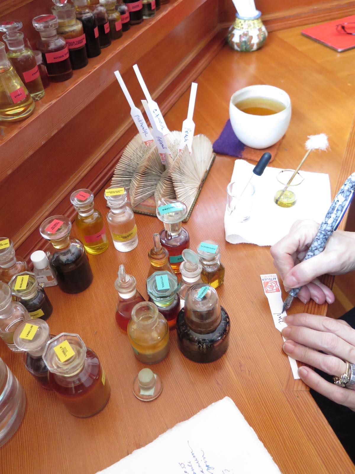 Mandy formulating a custom perfume