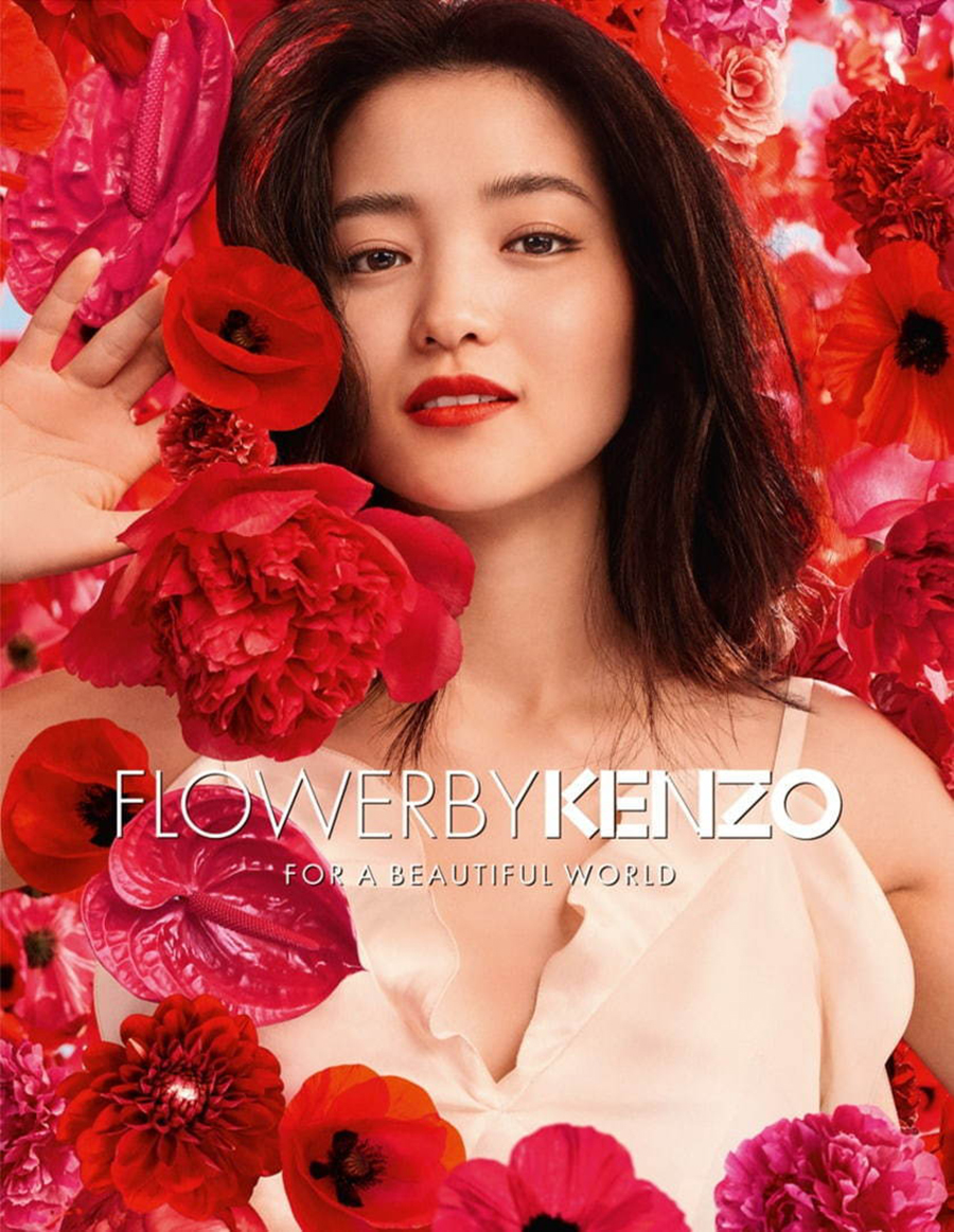 Kenzo Flower 20th anniversary ad For a Beautiful World