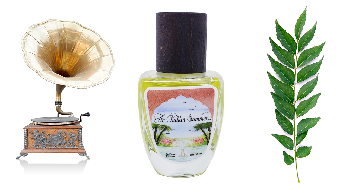 Indian Summer perfume with Curry Leaves and Victrola.