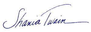 Shania Twain Logo
