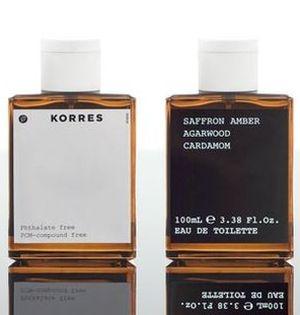 Saffron Amber Agarwood Cardamom Korres pour homme