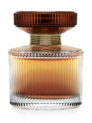 a bottle of Oriflame Amber Elixir perfume
