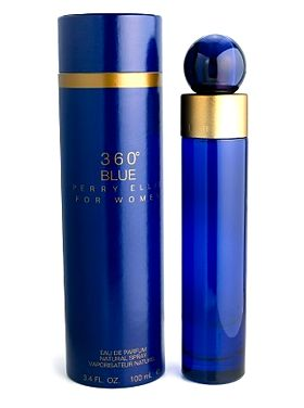 360° Blue Perry Ellis de dama