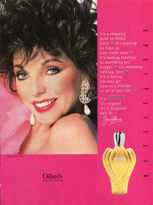 Spectacular Joan Collins Perfume A Fragrance For Women 1989