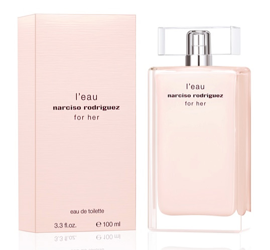 narciso rodriguez l 39 eau for her narciso rodriguez perfume una fragancia para mujeres 2013. Black Bedroom Furniture Sets. Home Design Ideas