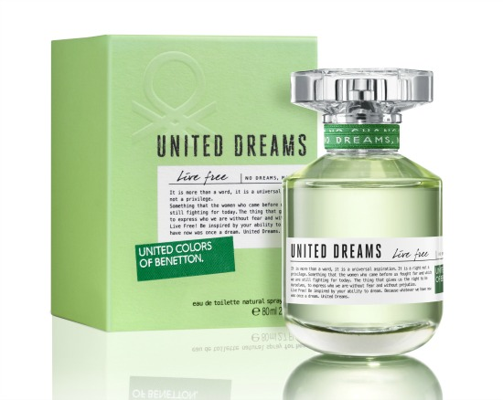 United dreams live free benetton perfume a fragrance for for Benetton dream big