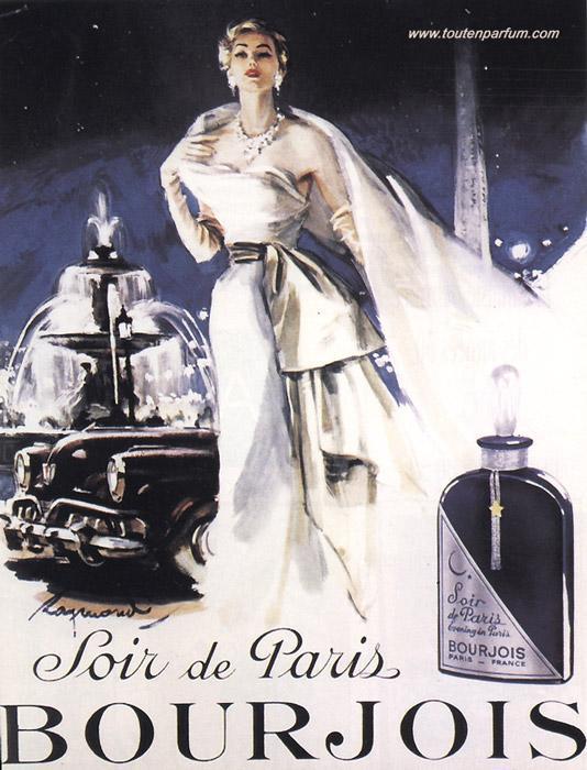Rose Vanilla Perfume: Soir De Paris (Evening In Paris) Bourjois Perfume