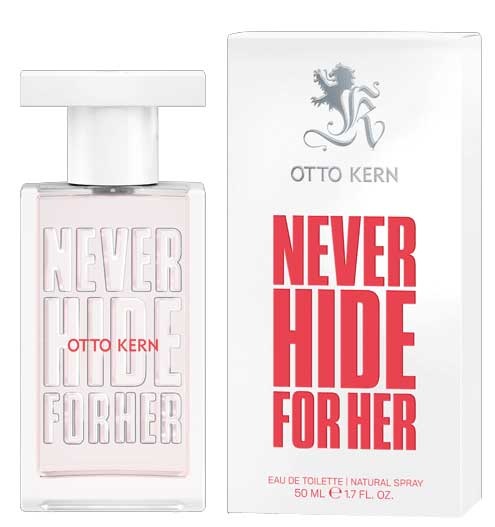 never hide for her otto kern parfum un nou parfum de dama 2017