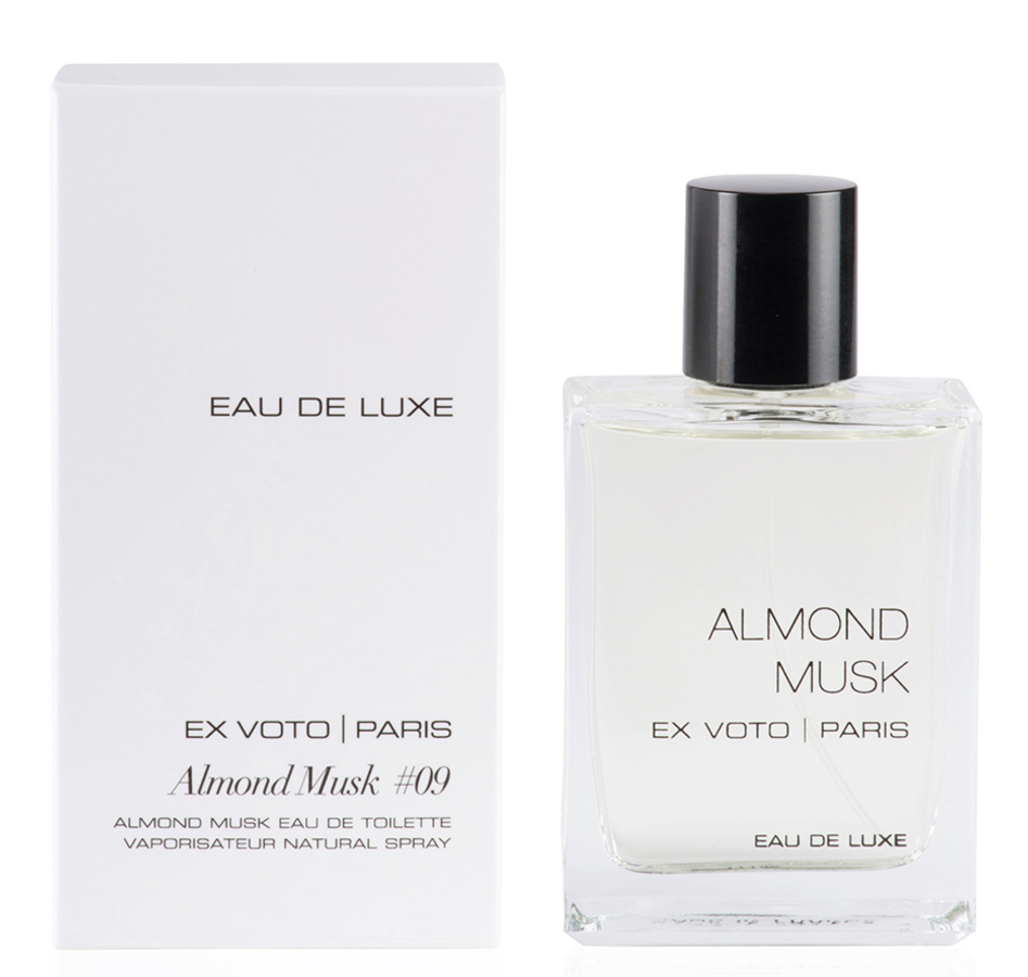 eau de luxe almond musk ex voto parfum un nouveau parfum. Black Bedroom Furniture Sets. Home Design Ideas