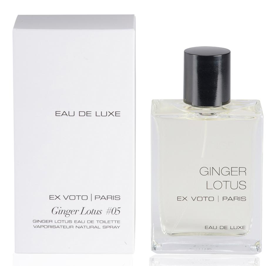 eau de luxe ginger lotus ex voto parfum un nouveau parfum pour homme et femme 2016. Black Bedroom Furniture Sets. Home Design Ideas