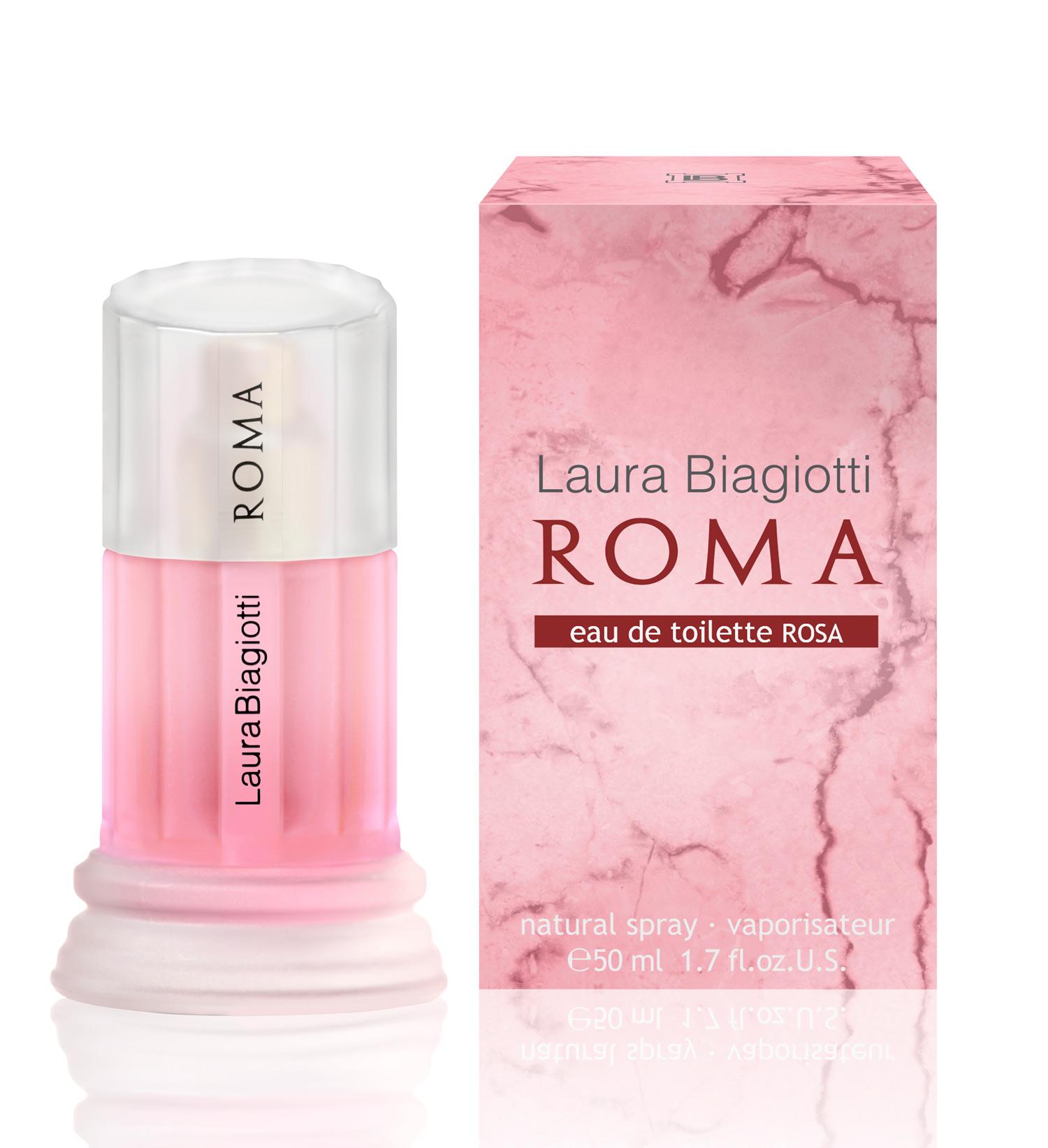 roma eau de toilette rosa laura biagiotti perfume a new. Black Bedroom Furniture Sets. Home Design Ideas