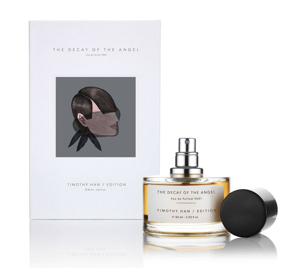 the decay of the angel timothy han edition perfumes parfum un nouveau parfum pour homme et. Black Bedroom Furniture Sets. Home Design Ideas